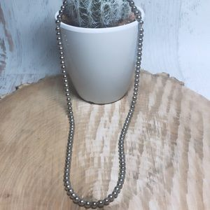 Vintage Silver Plated Beaded Magnetic necklace